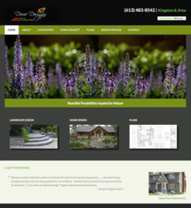 Derue Designs website custom