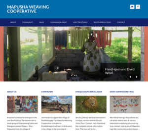 Mapusha Weaving Coop website custom