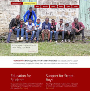 The Kenya Initiative screenshot website home page