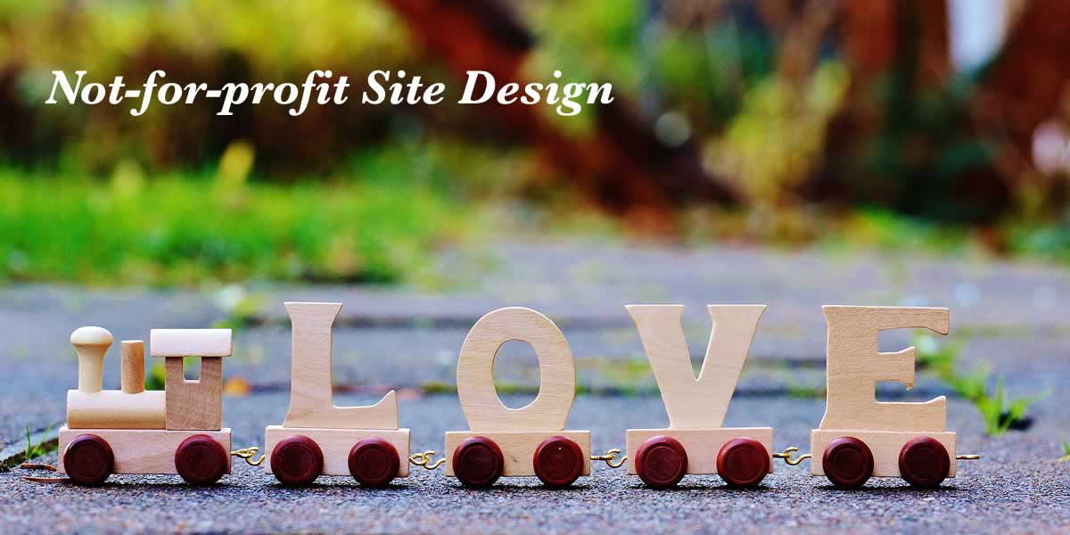 Customized website design—not-for-profit websites