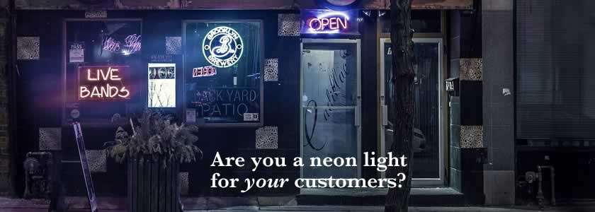 Sustainable website design—attract your ideal customer like a neon light