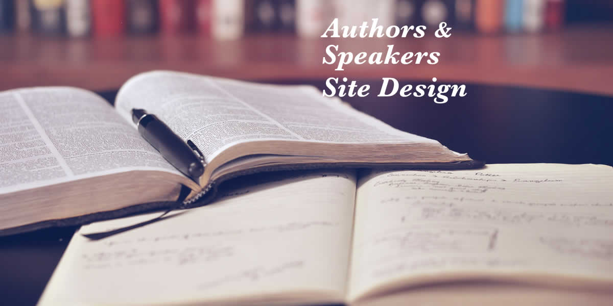 Customized website design—authors and speakers