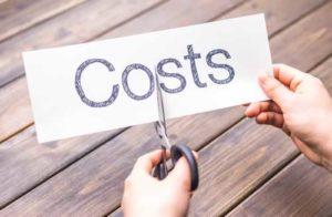 Written word costs being cut by scissors
