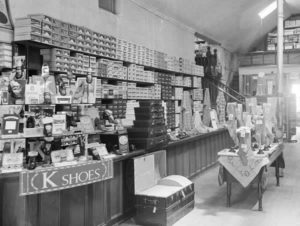 Old Shoe Store with wall of boxes | think in- or outside the box